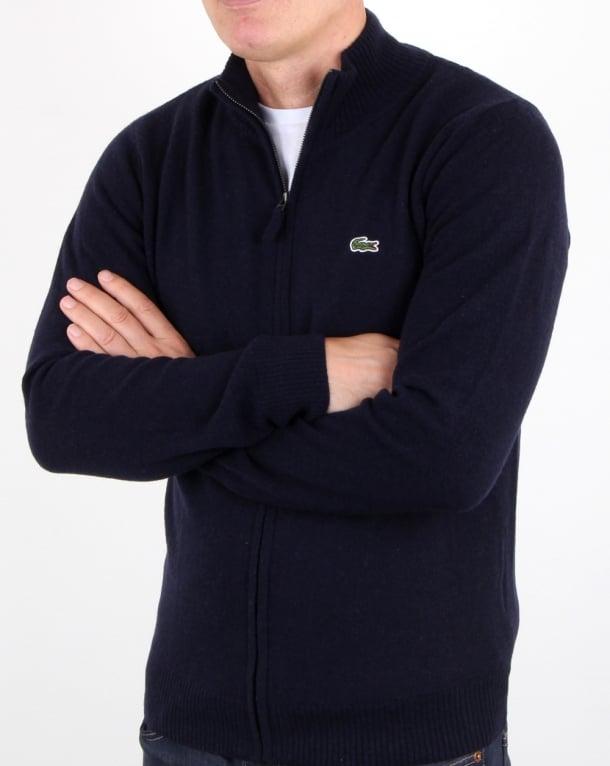 dc2c04194be1 Lacoste Lacoste Wool Full Zip Jumper Navy