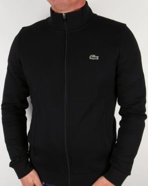 Lacoste Zip-Up Sweatshirt Black