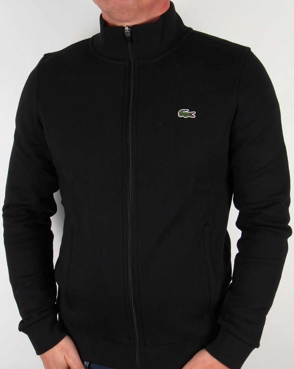 e6d1d94256 Lacoste Zip Up Track Top Black