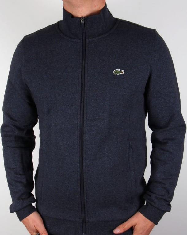lacoste zip up track top navy marl sweatshirt tracksuit. Black Bedroom Furniture Sets. Home Design Ideas