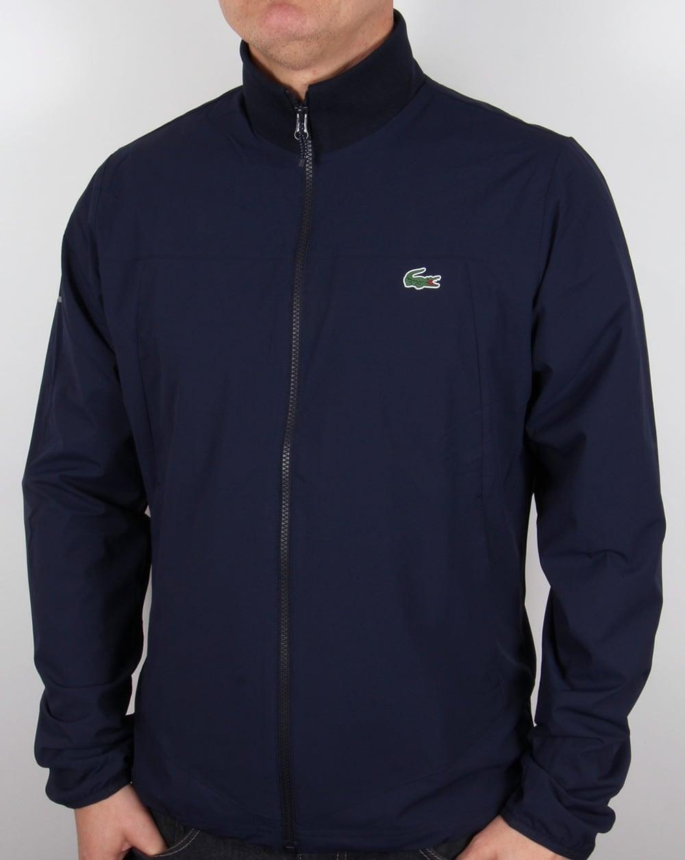 lacoste zipped jacket navy white coat harrington mens. Black Bedroom Furniture Sets. Home Design Ideas