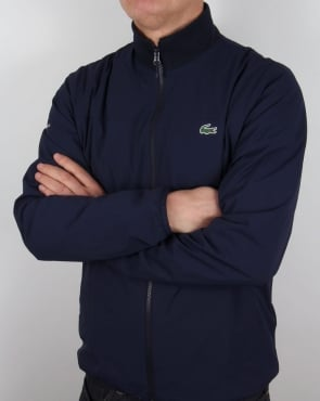 Lacoste Zipped Jacket Navy/White