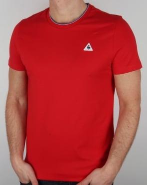 Le Coq Sportif Anglin T Shirt Red