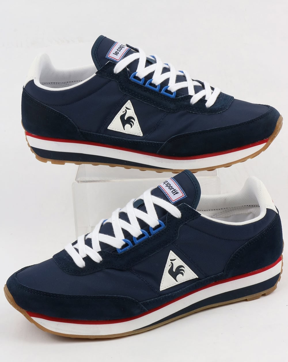 le coq sportif azstyle trainers navy red running lightweight shoes. Black Bedroom Furniture Sets. Home Design Ideas