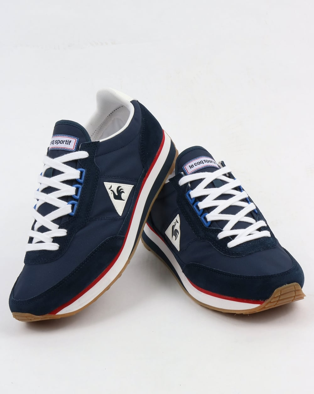 le coq sportif azstyle trainers navy red running. Black Bedroom Furniture Sets. Home Design Ideas
