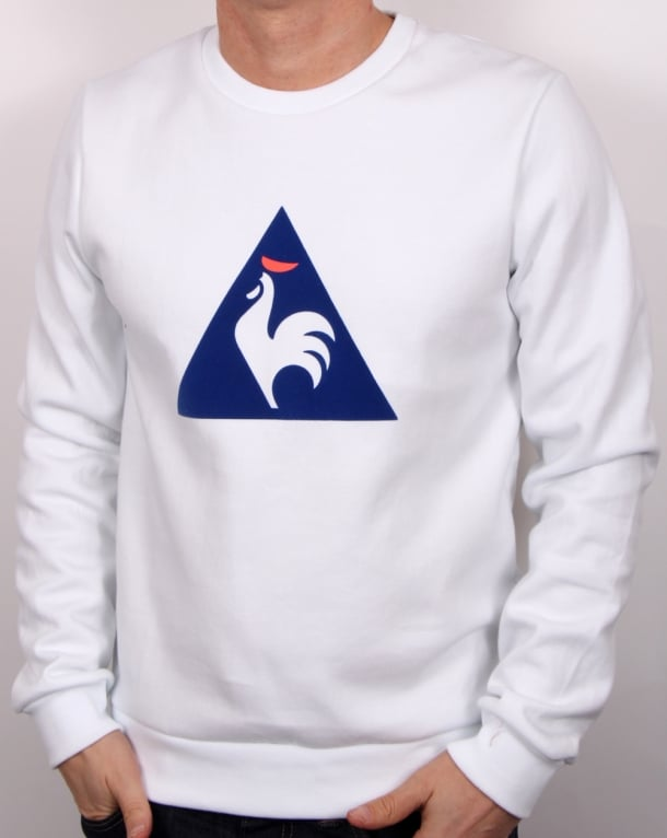 le coq sportif coq logo sweatshirt white men s jumper