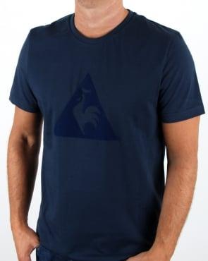 Le Coq Sportif Essentiels Logo T Shirt Navy