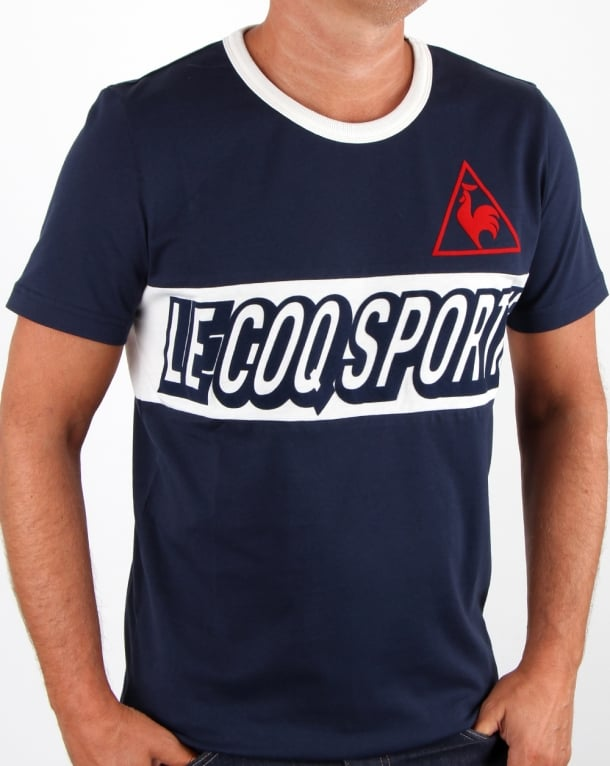Le Coq Sportif Football Shirt Navy