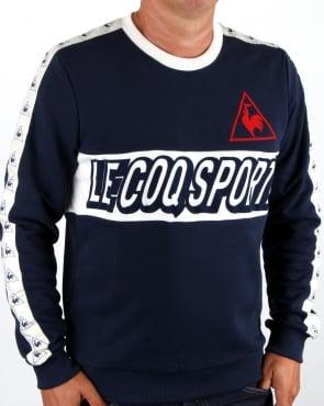 Le Coq Sportif Football Sweatshirt Navy