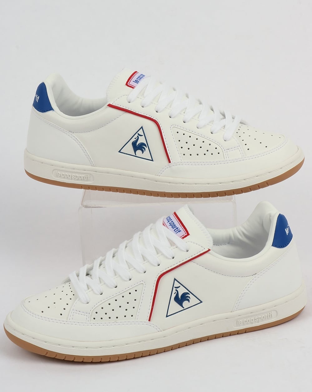 le coq sportif icons lea sport gum trainers white shoes tennis. Black Bedroom Furniture Sets. Home Design Ideas