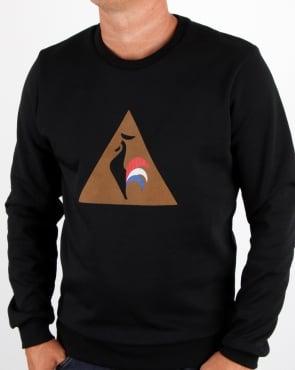 Le Coq Sportif Logo Sweatshirt Black