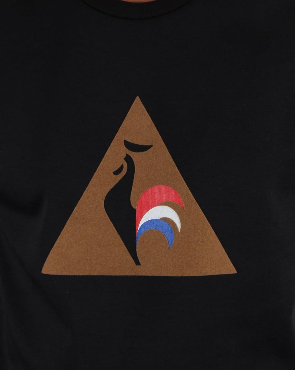 le coq sportif logo sweatshirt black men s jumper top