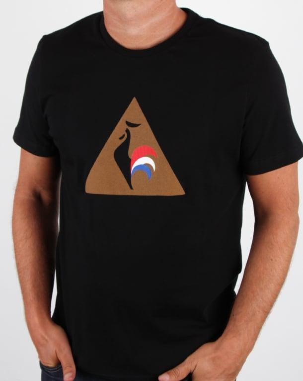 Le Coq Sportif Logo T Shirt Black