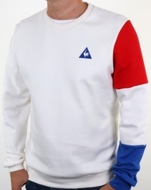 Le Coq Sportif Tricolore Sleeve Sweatshirt Off White