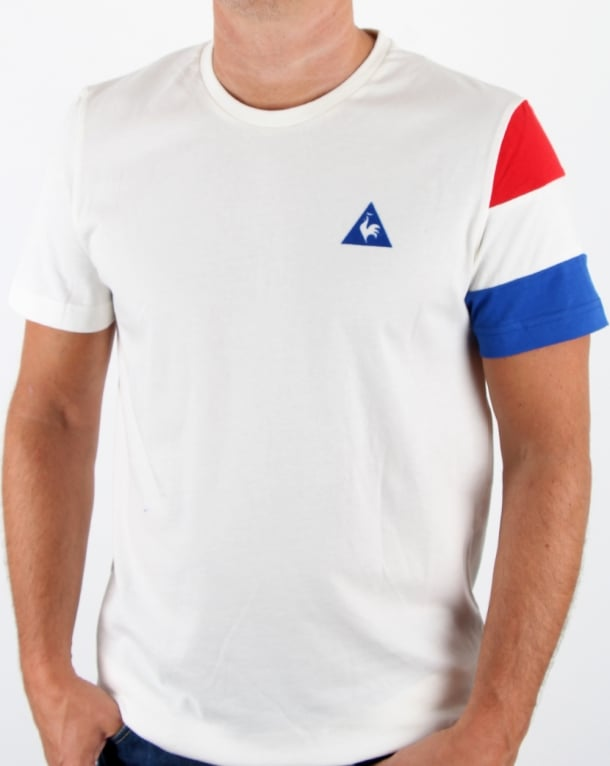 Le Coq Sportif Tricolore Sleeve T Shirt Marshmallow