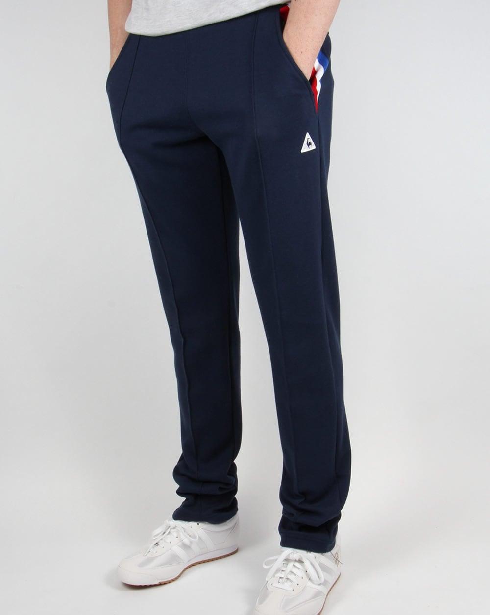 le coq sportif tricolore track pants navy tracksuit bottoms mens. Black Bedroom Furniture Sets. Home Design Ideas