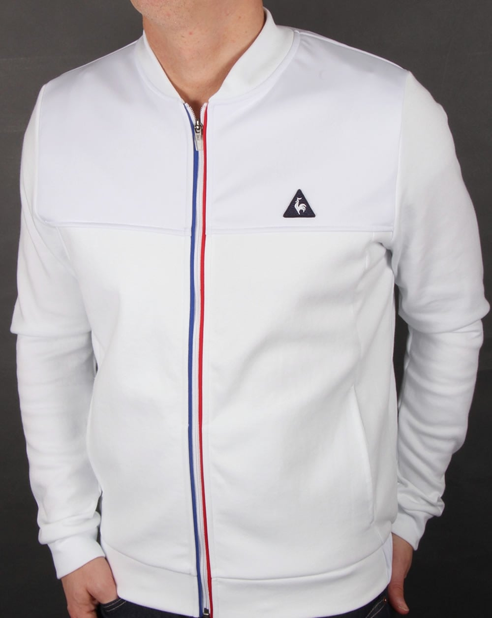 le coq sportif tricolore track top white jacket tracksuit mens. Black Bedroom Furniture Sets. Home Design Ideas