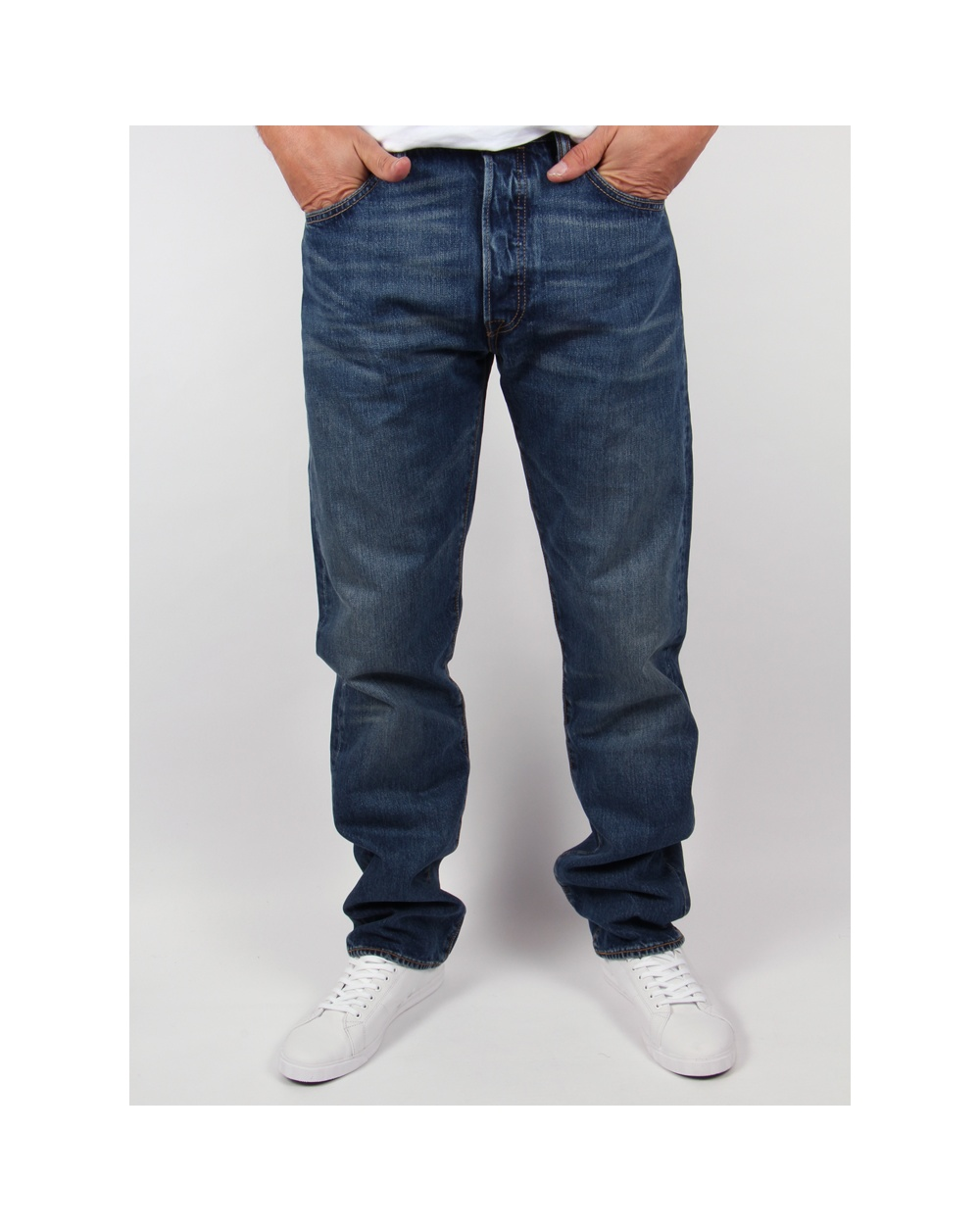 Levis 501 Original Fit Jeans Hook Denim Mens Straight