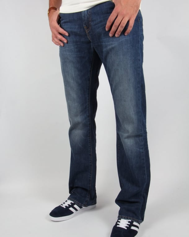 Levis 527 Boot Cut Jeans Mostly Mid Blue