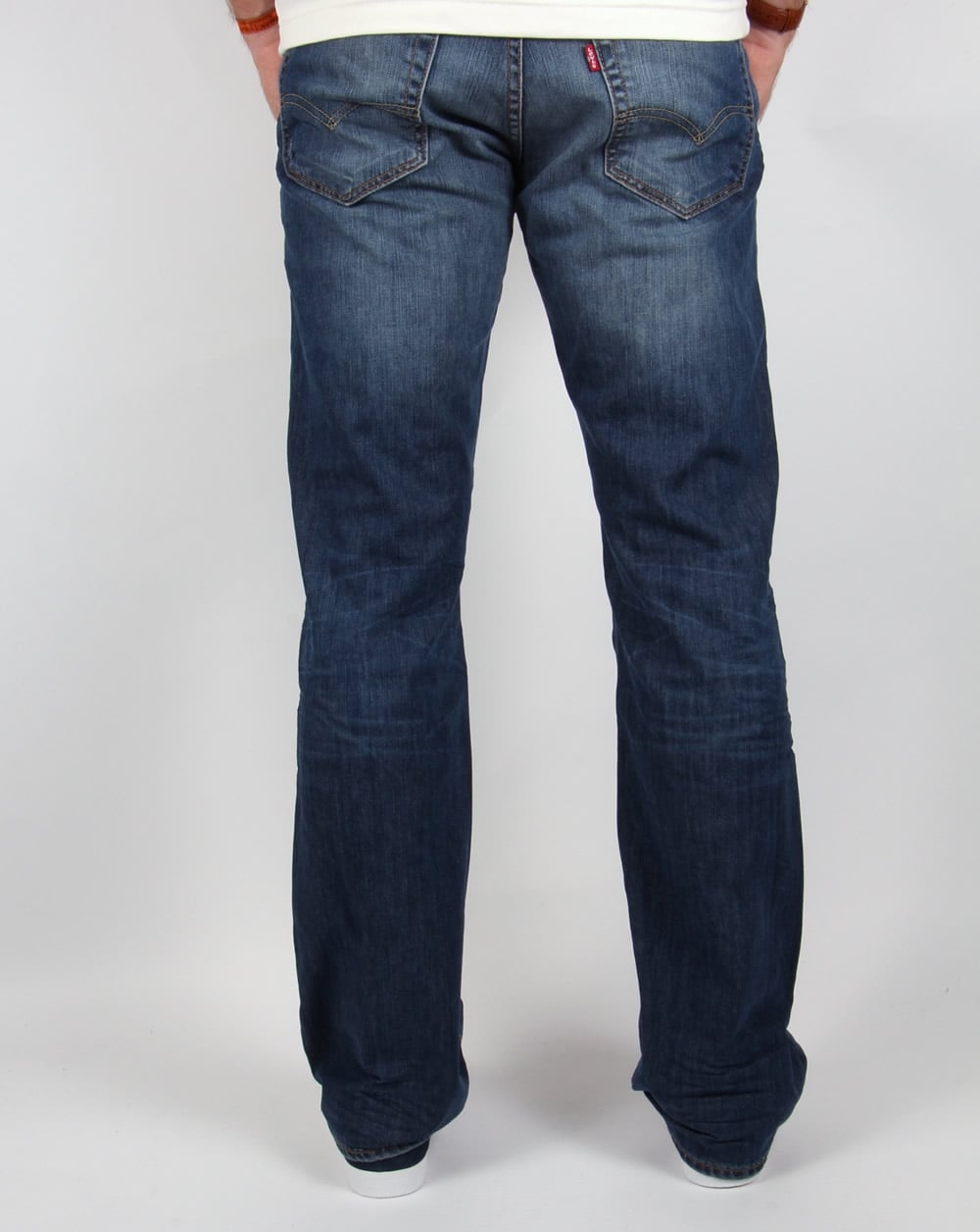 levis 527 slim boot cut mostly mid blue
