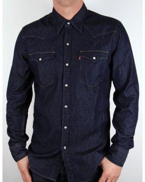 Levi's Levis Barstow Western Shirt Dark Denim