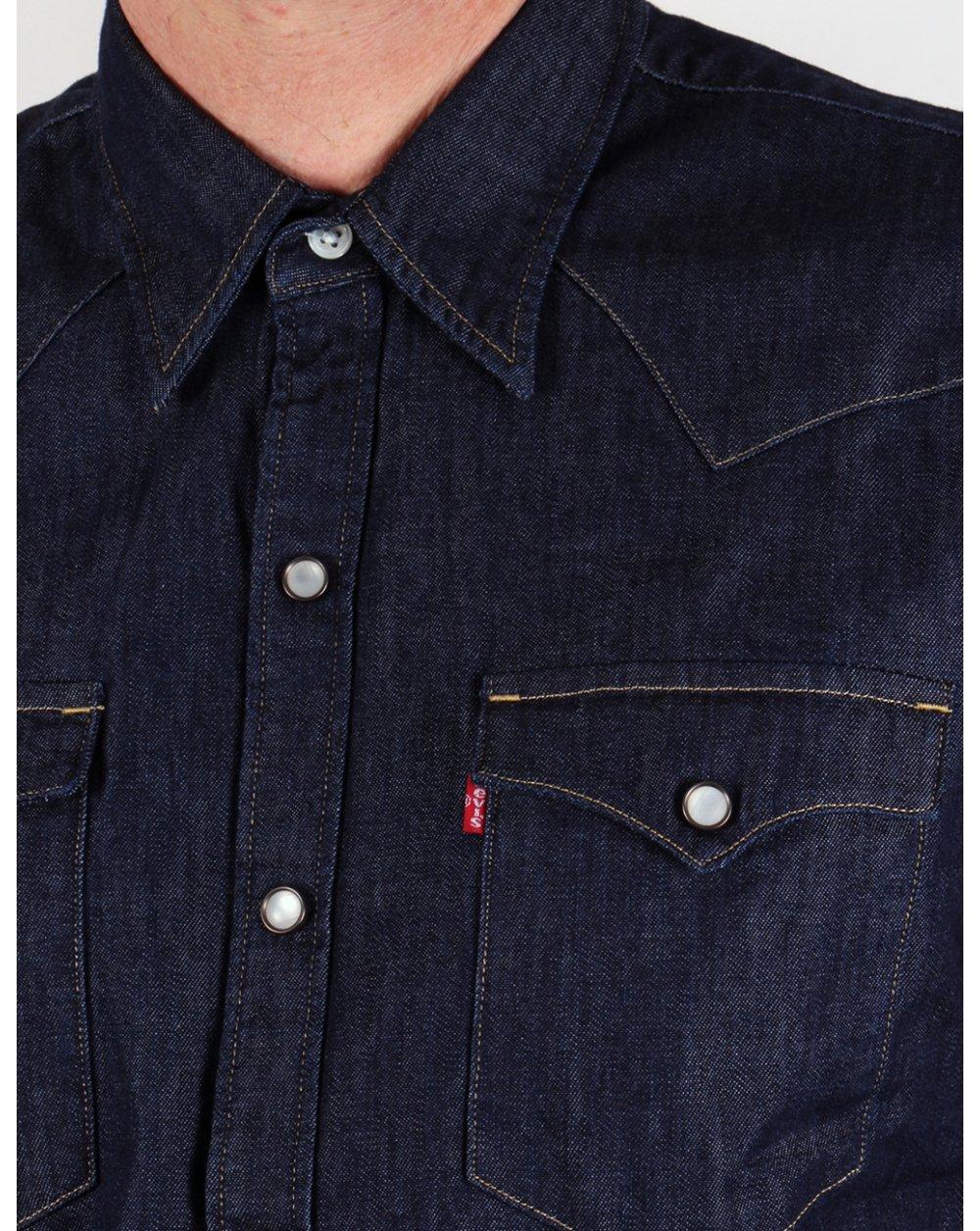 9a163616fb6 Levis Barstow Western Shirt Dark Denim