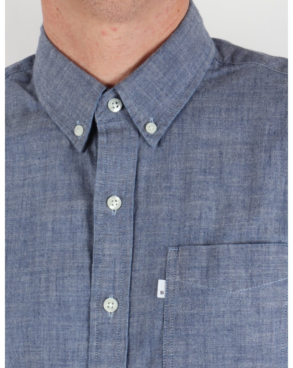 levis classic one pocket shirt indigo mens retro