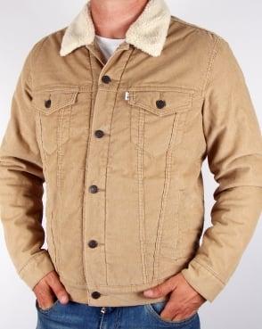 Levi's Levis Corduroy Sherpa Trucker Jacket Chino