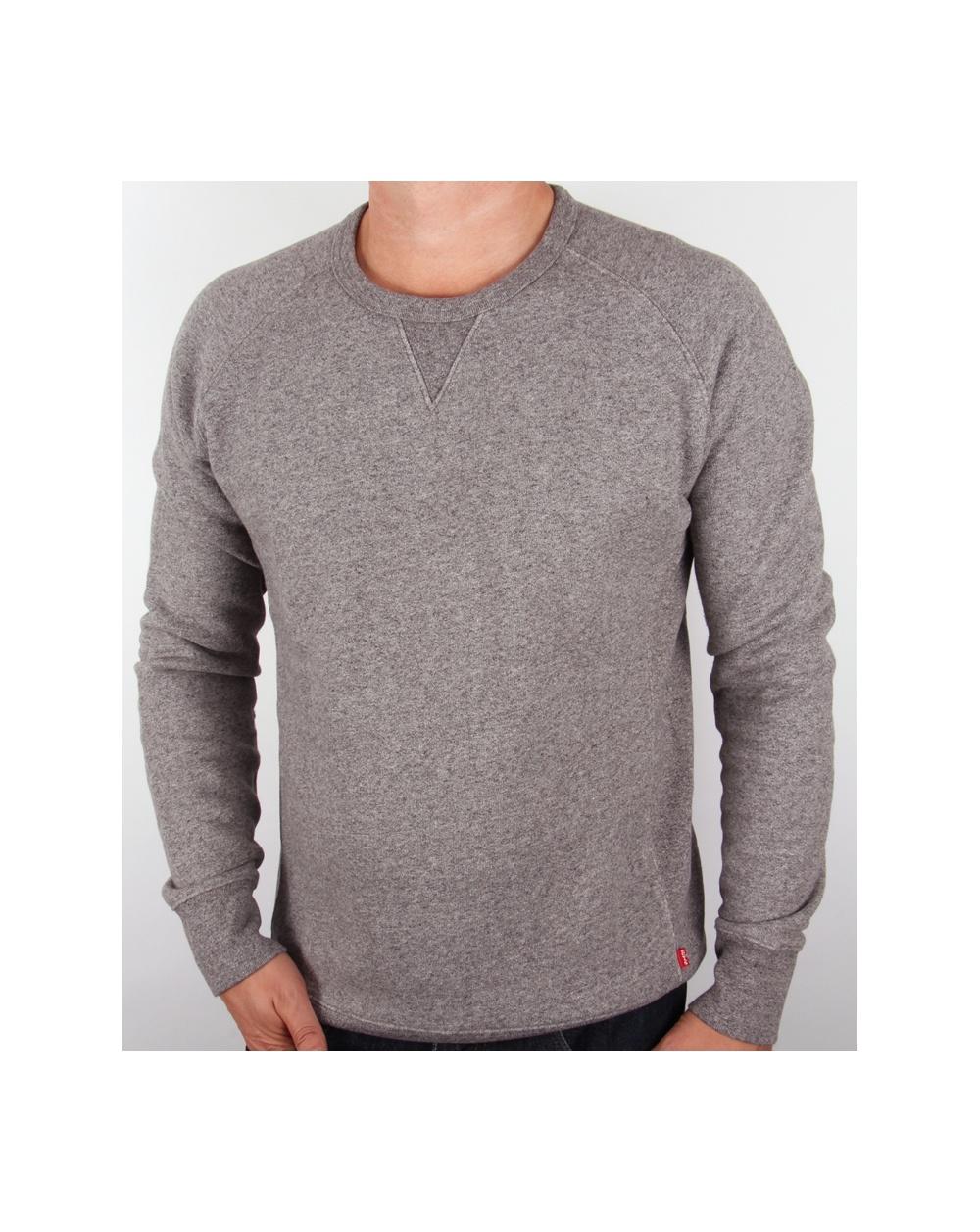 164d217f6b3afd Levi's Levis Crew Neck Sweatshirt Grey Marl