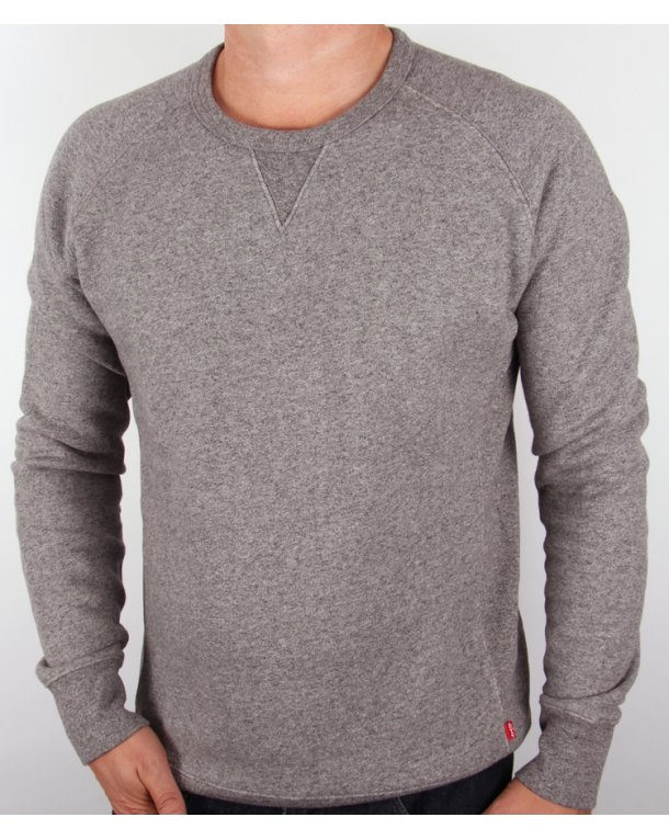 Levis Crew Neck Sweatshirt Grey Marl