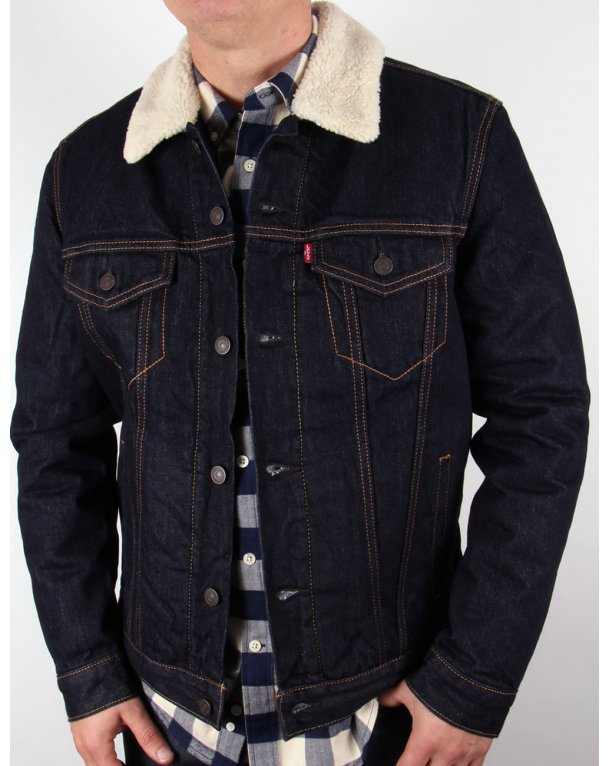 Levis Dark Denim Trucker Jacket