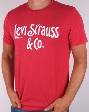 Levi's Levis Lsco Type T-shirt Cherry Bomb