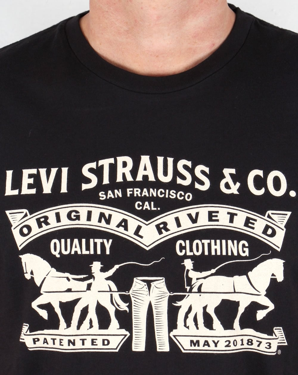 Levis Strauss Co Logo T Shirt Black Originals Tee Mens