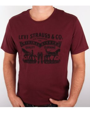 Levi's Levis Strauss & Co Logo T Shirt Burgundy