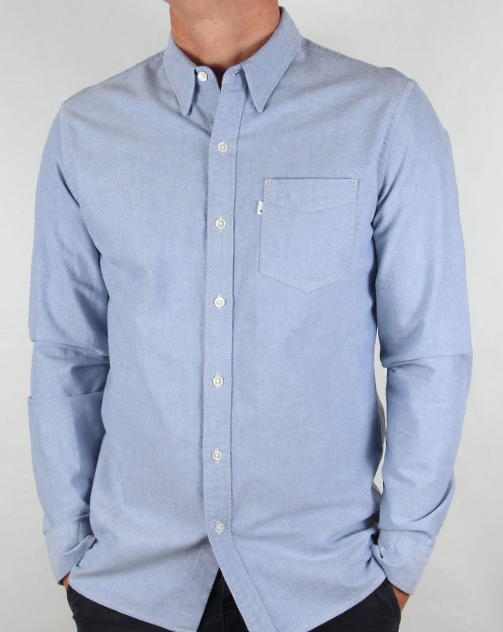 Levis Sunset One Pocket Shirt True Blue Oxford Mens Cotton