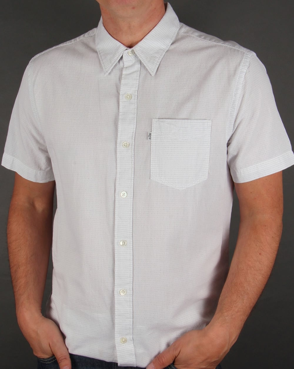 1d8331402 Levis Sunset One Pocket Short Sleeve Shirt Chalky White