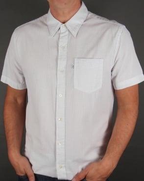 Levi's Levis Sunset One Pocket Short Sleeve Shirt Chalky White