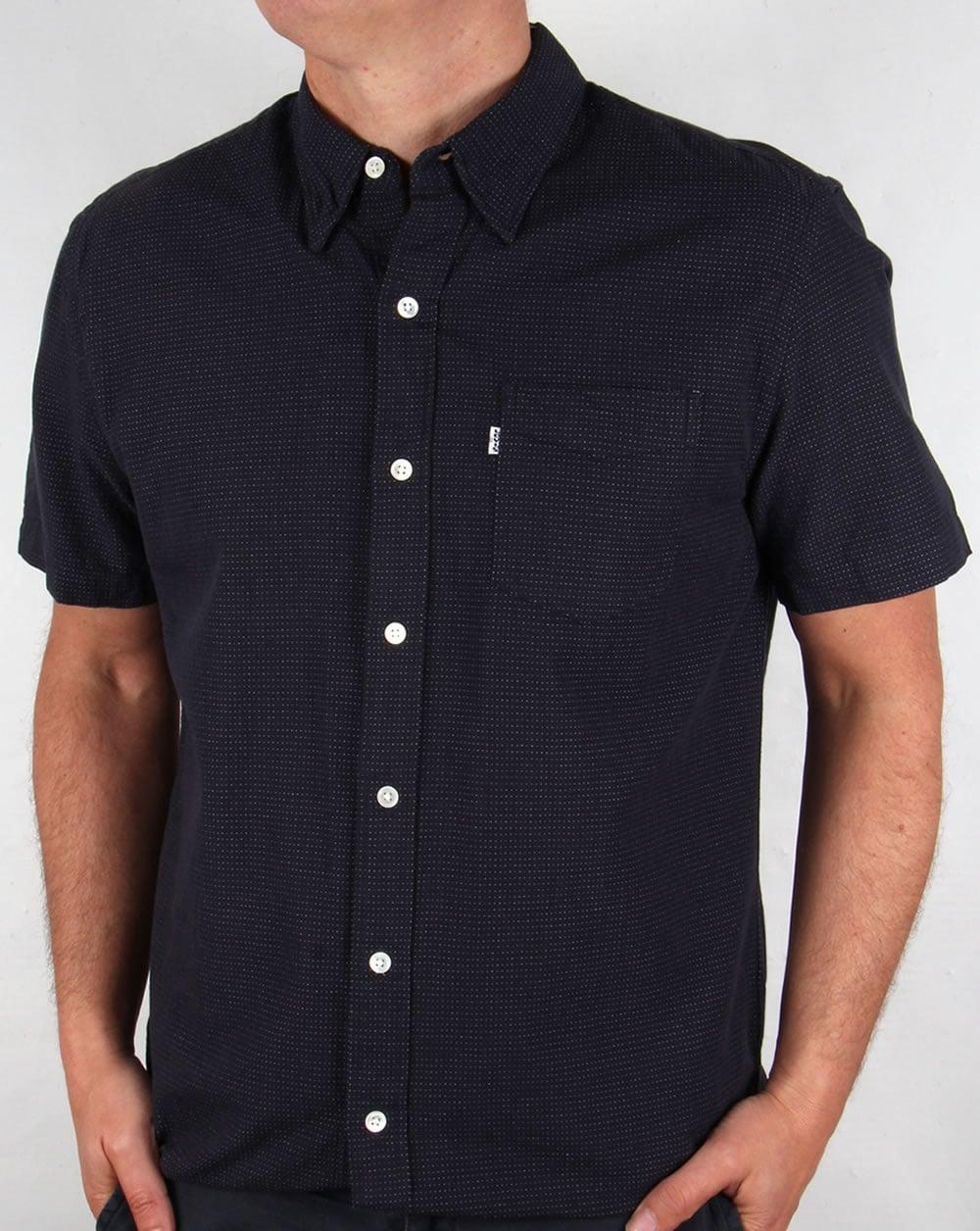 Levis Sunset One Pocket Short Sleeve Shirt Dark Indigo