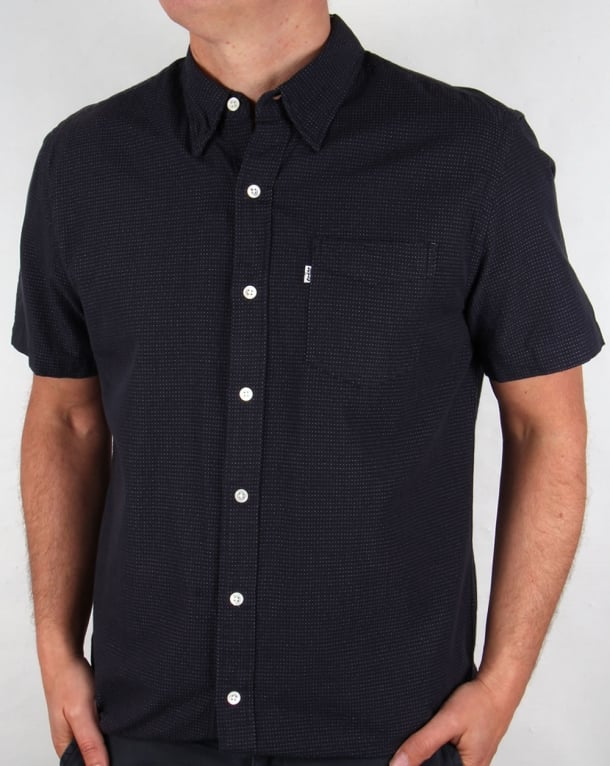 levis sunset one pocket short sleeve shirt dark indigo