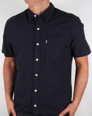 Levi's Levis Sunset One Pocket Short Sleeve Shirt Dark Indigo