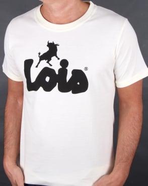 Lois Bull Logo T Shirt Light Yellow