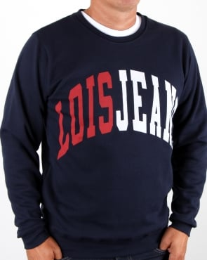 Lois College Sweatshirt Navy/red/white