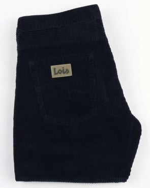 Lois Dallas Classic Straight Jumbo Cords Navy Blue