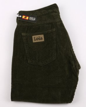 Lois Dallas Classic Straight Jumbo Cords Olive