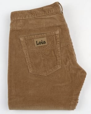 Lois Dallas Jumbo Classic Straight Cords Dark Sand