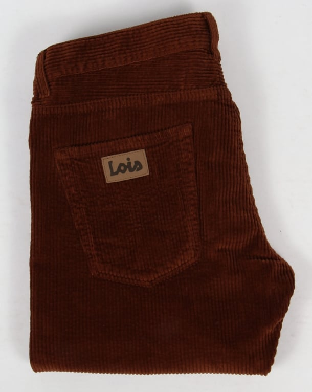 Lois Dallas Jumbo Cords Dark Brown