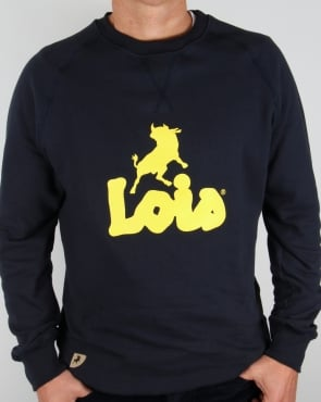 Lois Lisbon Sweatshirt Navy/Yellow