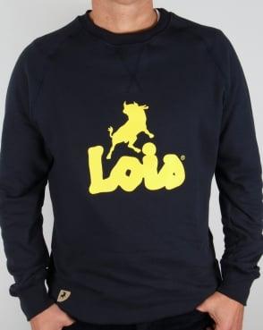 Lois Lisbon Sweatshirt Navy/Yellow