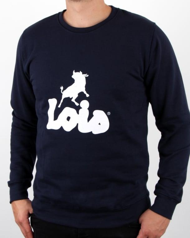 Lois Logo Sweatshirt Navy