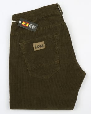 Lois Sierra Needle Cords Green Olive